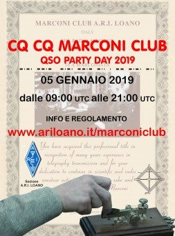 MARCONI CLUB QSO PARTY DAY 2019